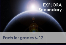 Space background for Explora for grades 6-12 database