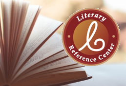 Book with pages fanned out representing Literary Reference database